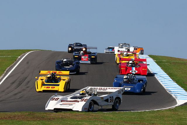 Historic racing action at the Phillip Island Classic