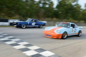 Vintage race cars are showcased at the Savannah Speed Classic
