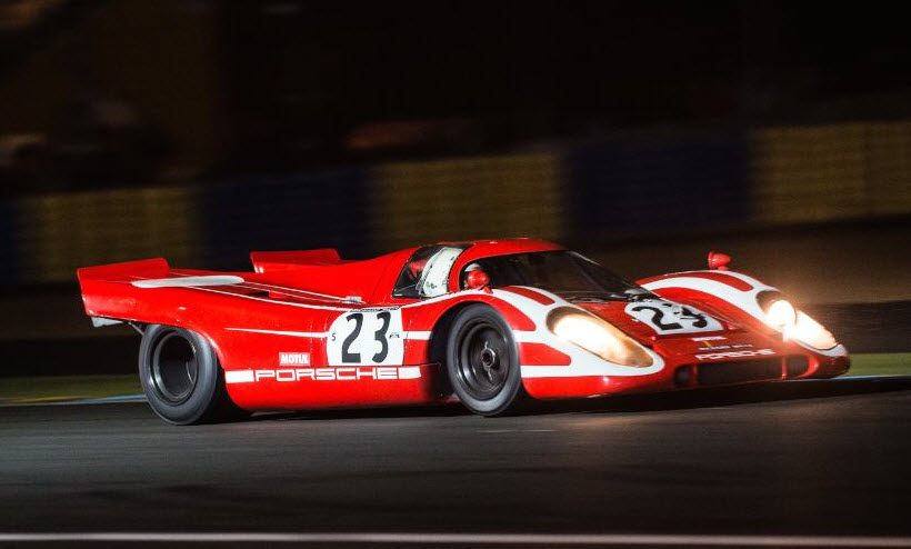 Porsche 917 racing at the Le Mans Classic