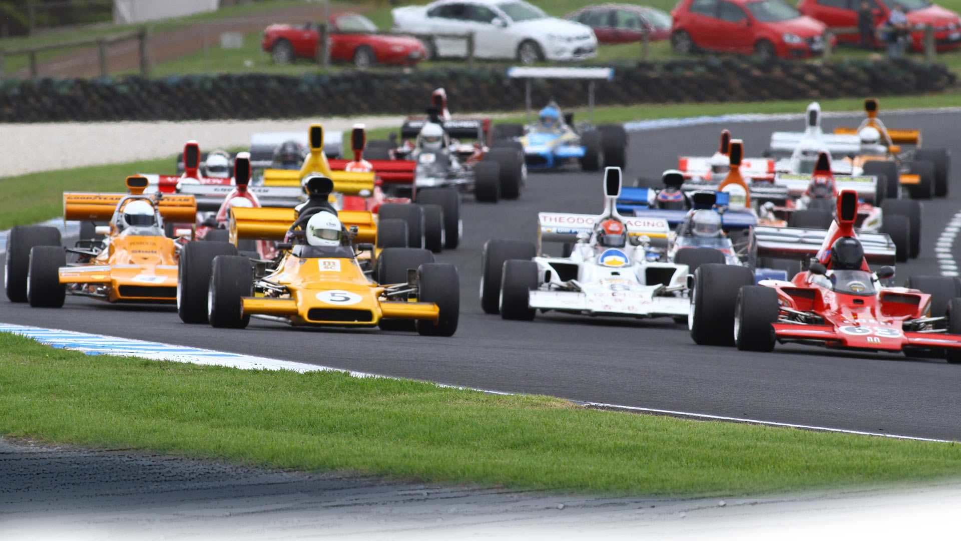NZ Formula 5000 racing at Hampton Downs