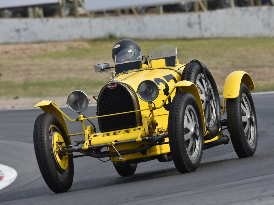 Racing Bugatti at Historic Winton