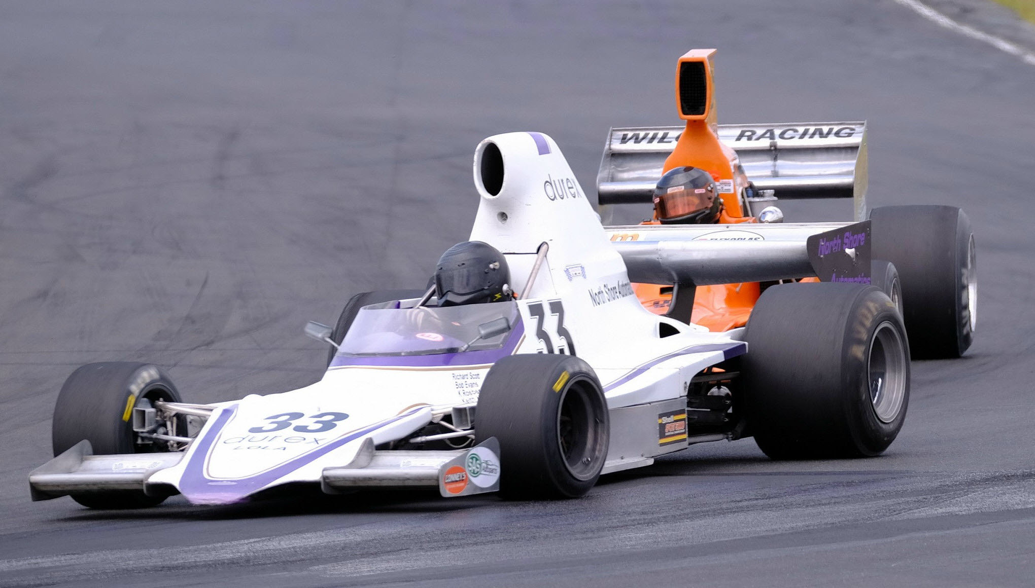 Historic F5000 racing at the Hampton Downs Legends of Speed event