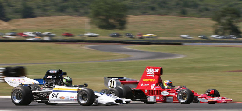 F5000 racintg at the Taupo Historic Grand Prix
