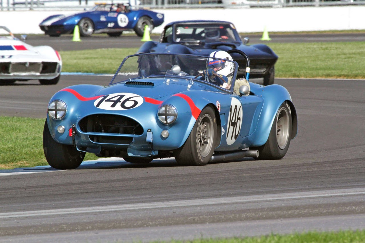 Cobra features at the Brickyard Vintage Racing Invitational