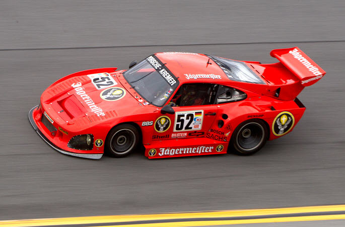 Historic sportscar racing at the Classic 24 Hour event at Daytona