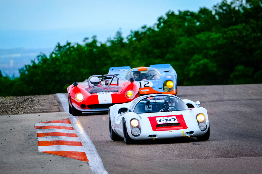 Historic sportscar racing at the Grand Prix de l'Age d'Or at Dijon circuit