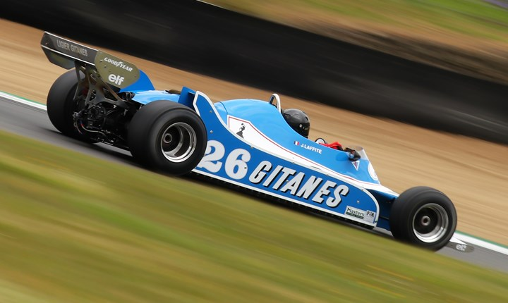 Formula 1 racing features at the Masters Historic Race Weekend at Donington Park