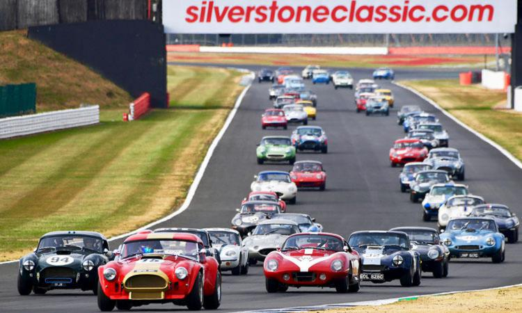 Racing at the Silverstone Classic