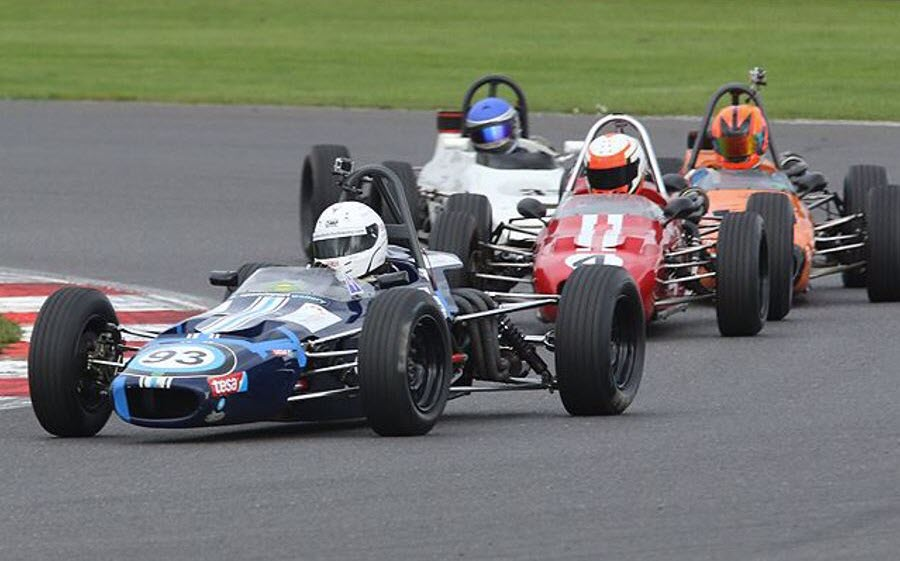 Historic Formula Ford action features at the Walter Hayes Trophy
