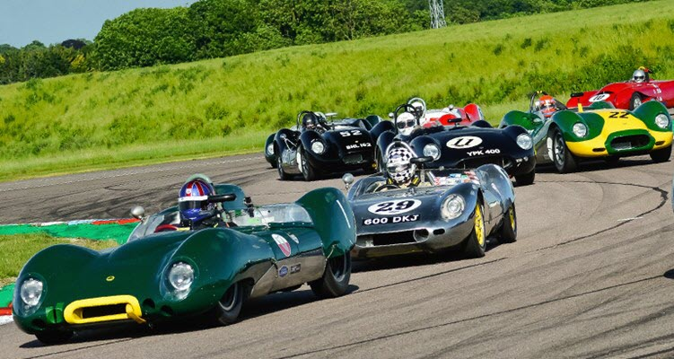 Classic racing action featured at the Thruxton Historic event