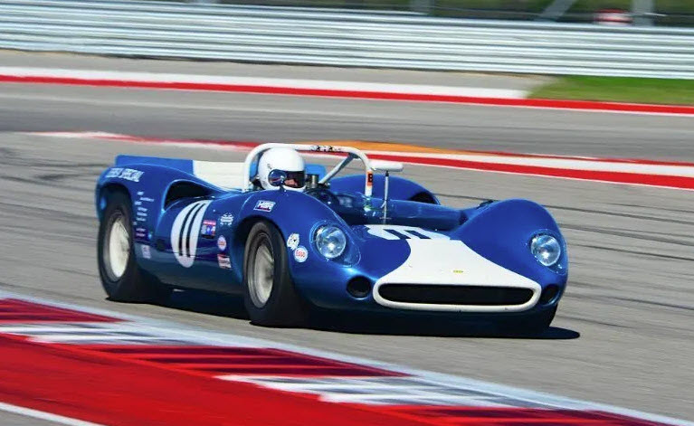 Racing at the US Vintage National Championship at Circuit of Americas