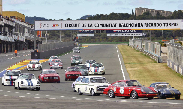 Historic racing at the Valencia Racing Legends event