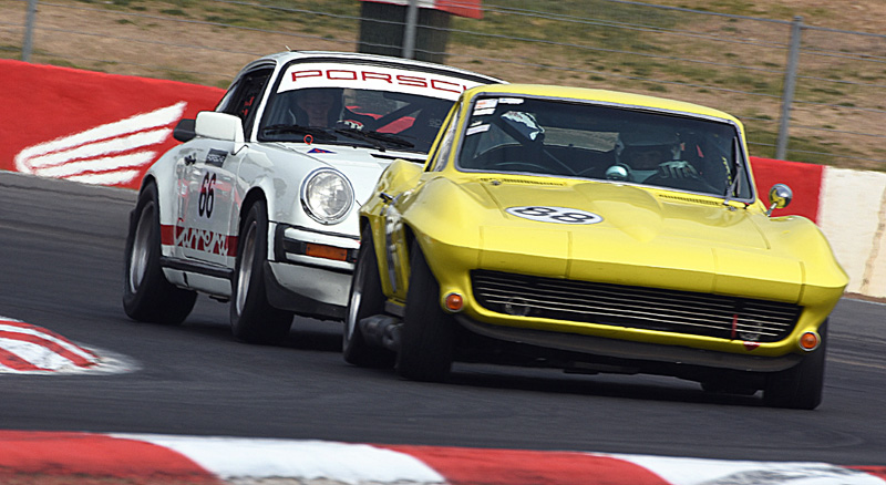 Historic racing action at the Winton Festival of Speed