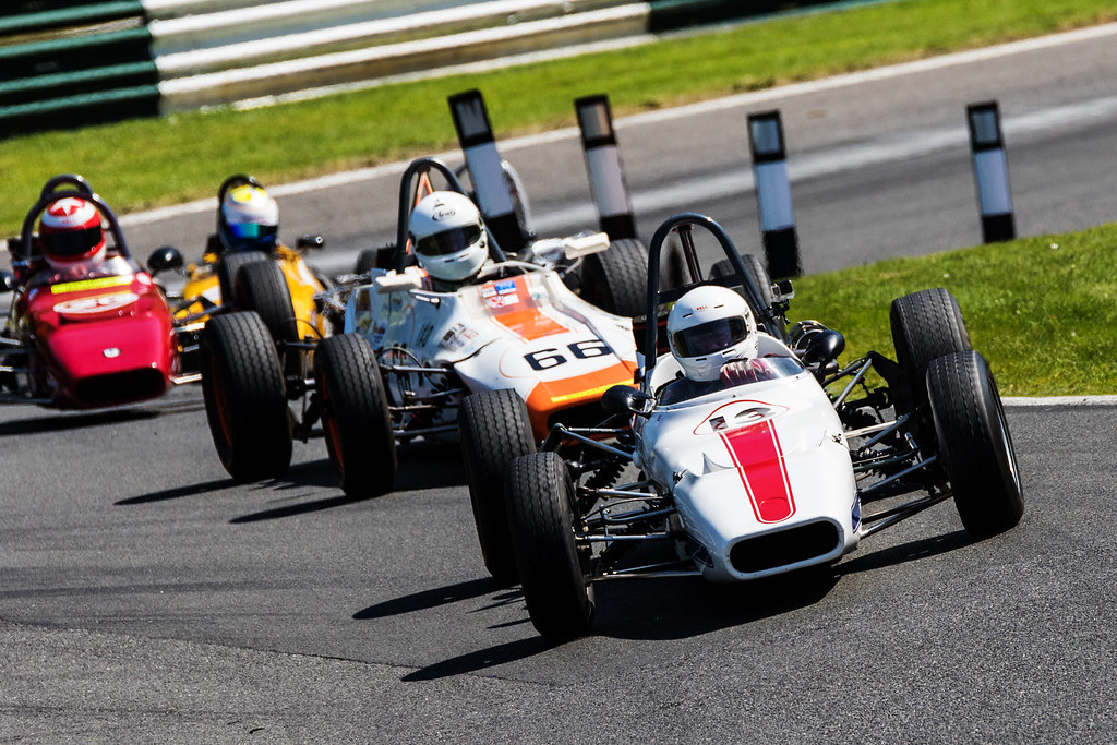 Historic racing action at the Wolds Trophy at Cadwell Park