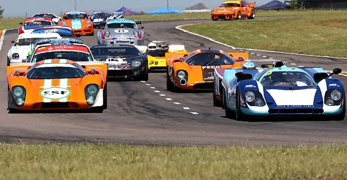 Historic sports prototypes racing at the Zwartkops Passion for Speed
