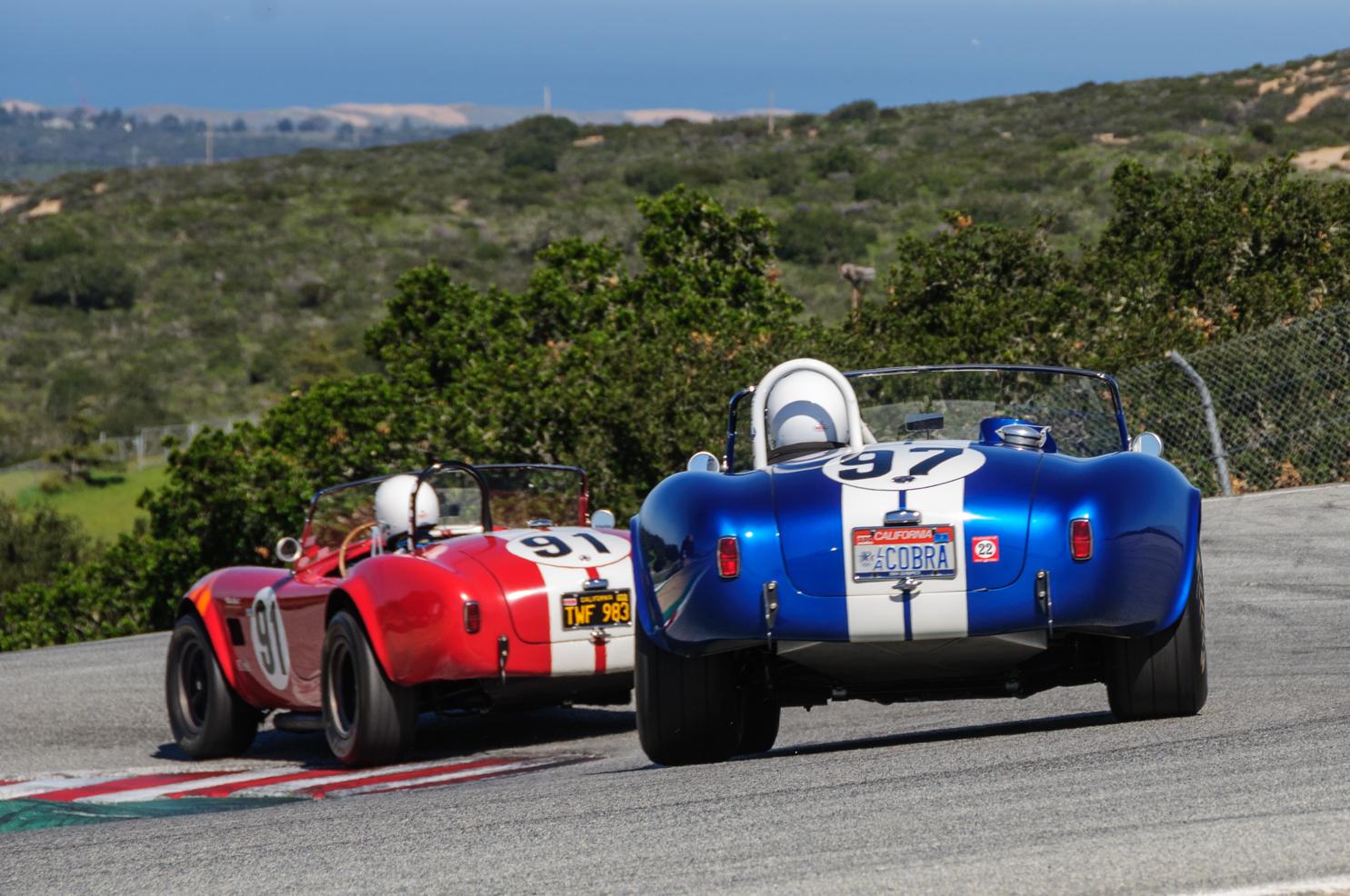 Racing at the HMSA Spring Club event at Laguna Seca