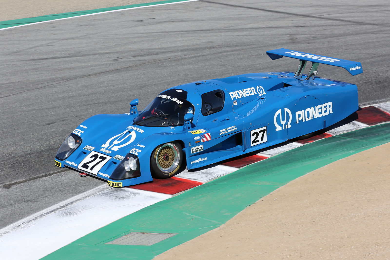 Racing at the Rolex Monterey Motorsports Reunion