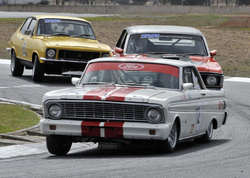 Classic touring car action at the All Historic Mallala event