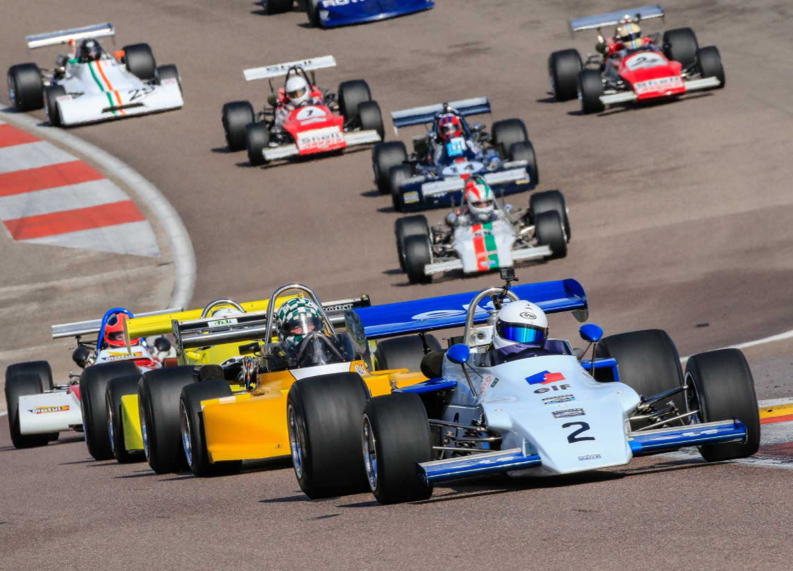 Classic Formula 2 racing at the Dijon Motors Cup