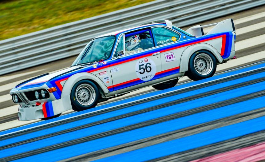 Historic touring car racing at the Dix Mille Tours du Castellet