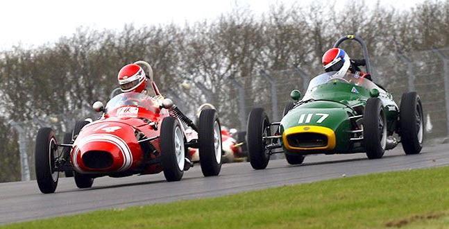 Historic Formula Junior racing features at the Donington Historic Festival