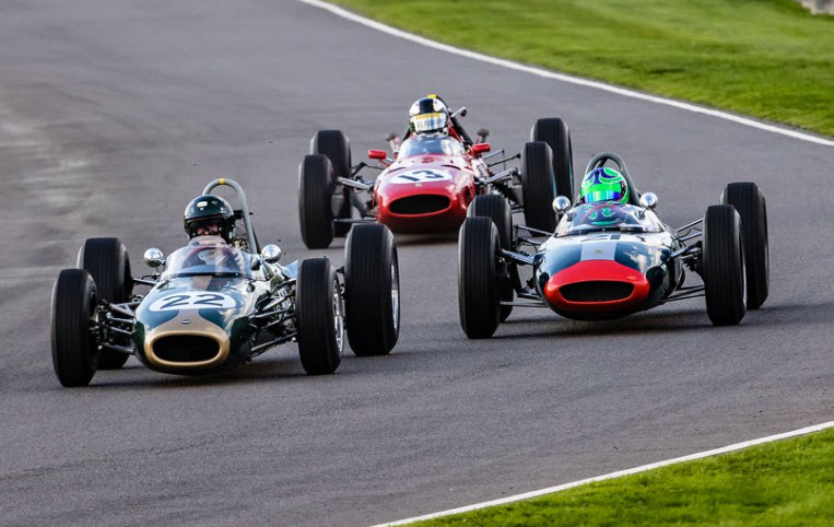 Historic grand prix cars racing at the Goodwood Revival