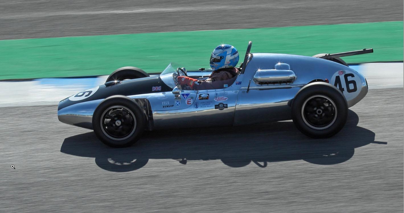 Historic grand prix Cooper racing at the Jerez Historic Festival
