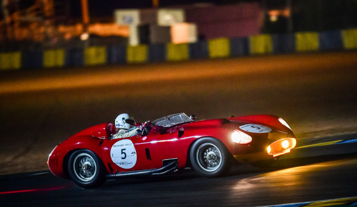 Spectacular historic racing sportscars at the Le Mans Classic