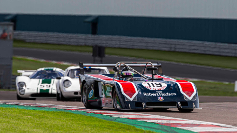 Sports prototype racing features at the Masters Historic Race Weekend at Donington Park