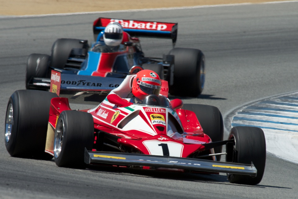 Historic F1 racing features at the Masters Historic Speed Festival at Laguna Seca