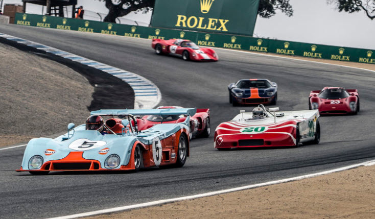 Historic racing at the Rolex Monterey Motorsports Reunion