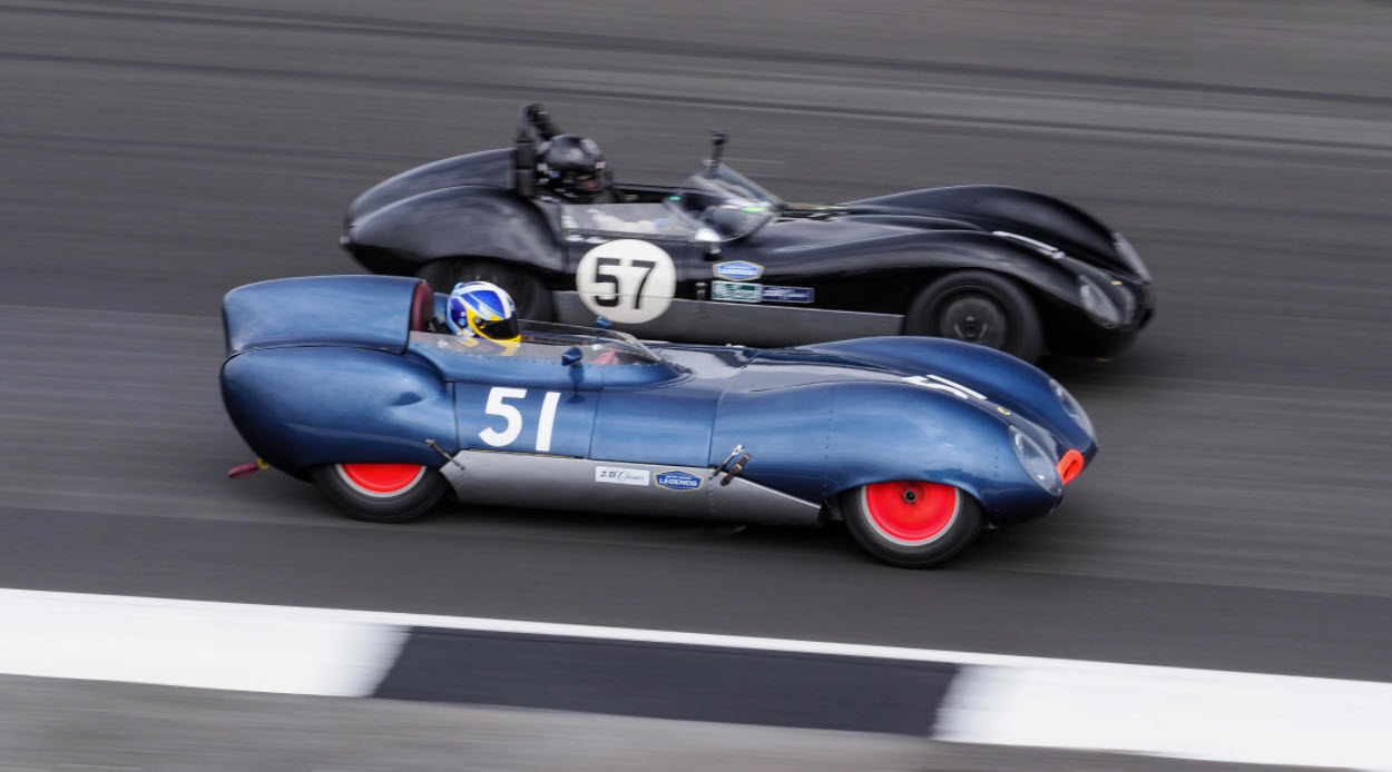 Historic sportscar racing features at the  Motor Racing Legends Silverstone event