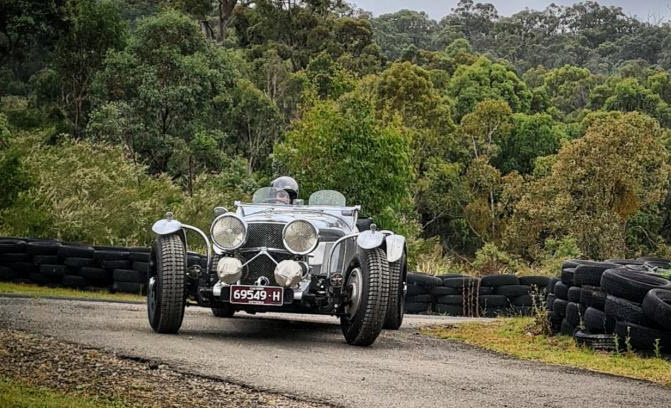 Vintage racing car competing on the Historic and Classic Rob Roy Hillclimb