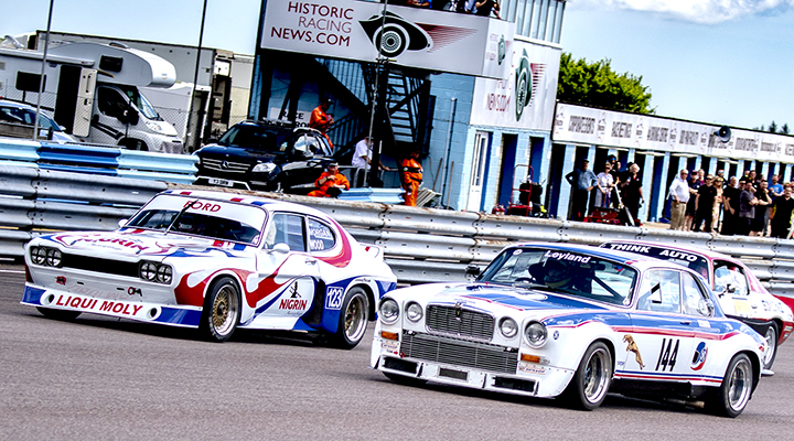 Classic touring car action features at the Thruxton Historic race meeting
