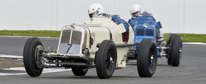 Vintage racing features at the VSCC Spring Start meeting at Silverstone