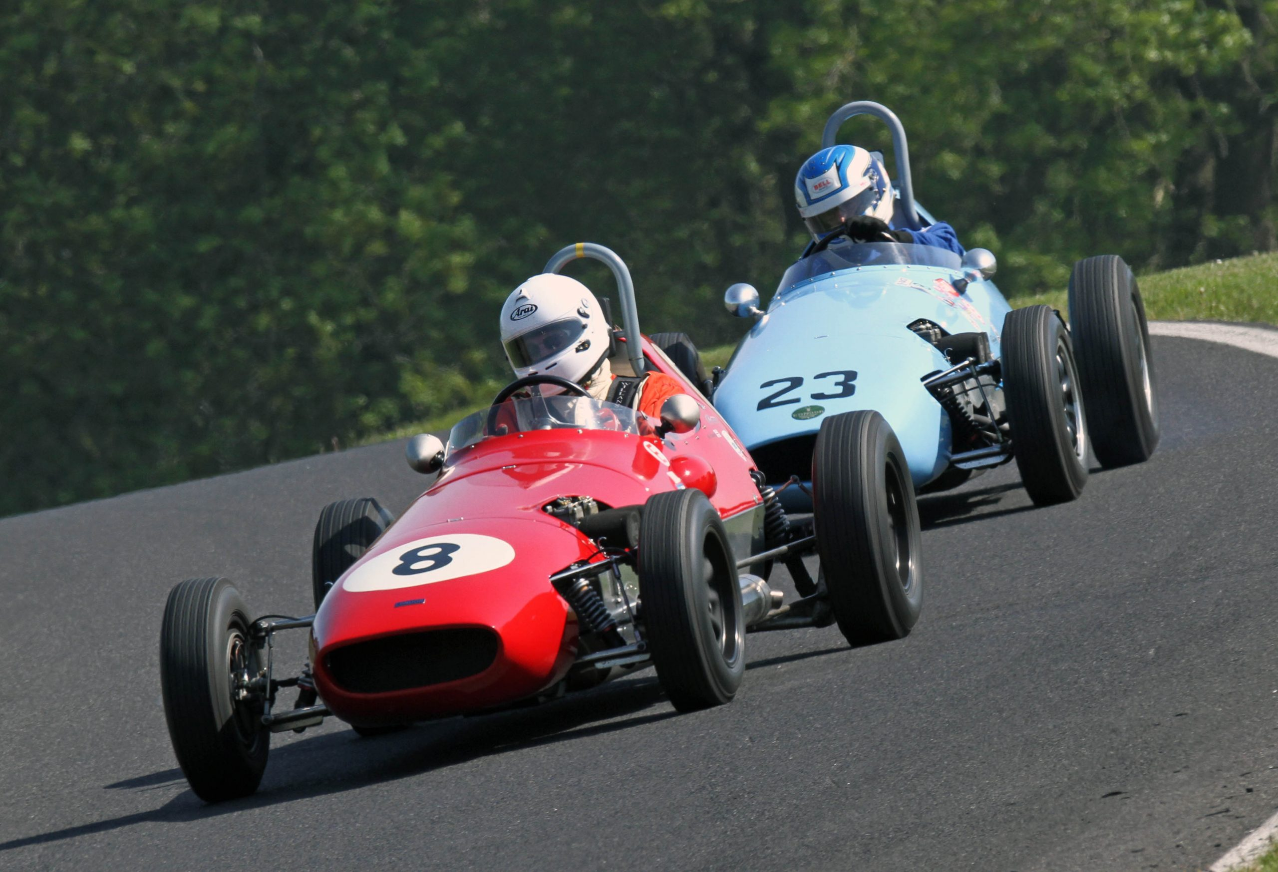 Historic racing at the Wolds Trophy at Cadwell Park