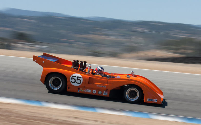 Vintage Can-Am McLaren racing at the HMSA Spring Club event