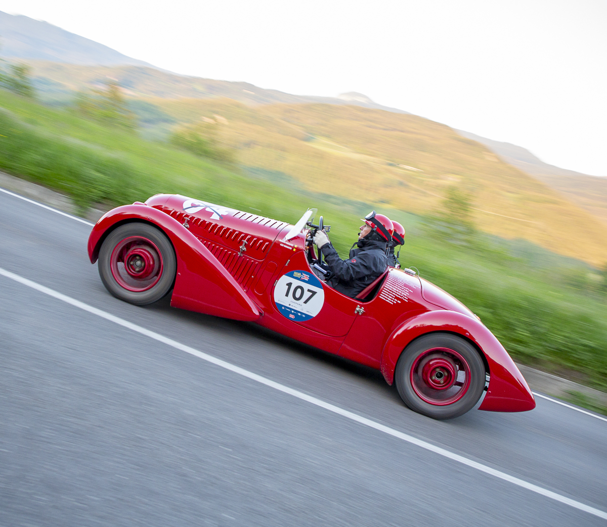 Vintage racing cars feature on the 1000 Miglia 2021
