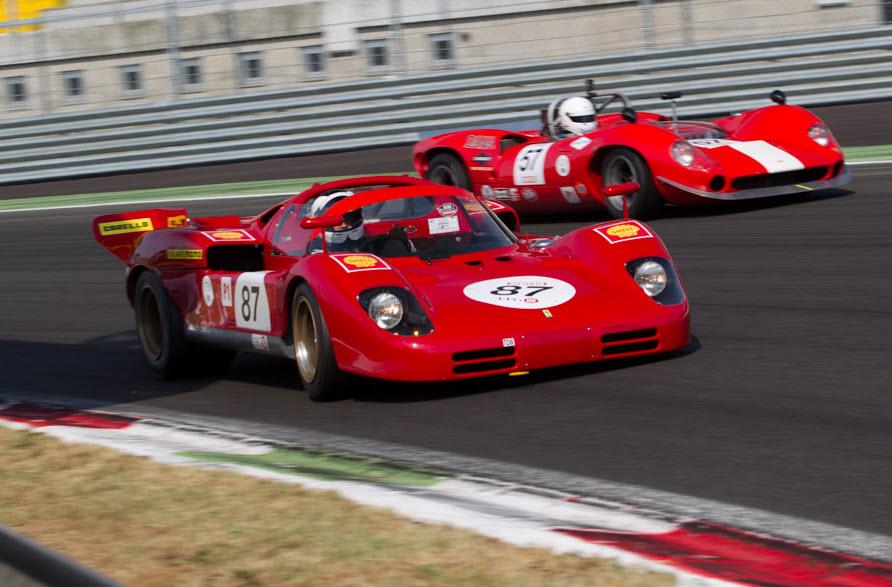 Classic endurance racing Ferrari 512S at the Monza Historic