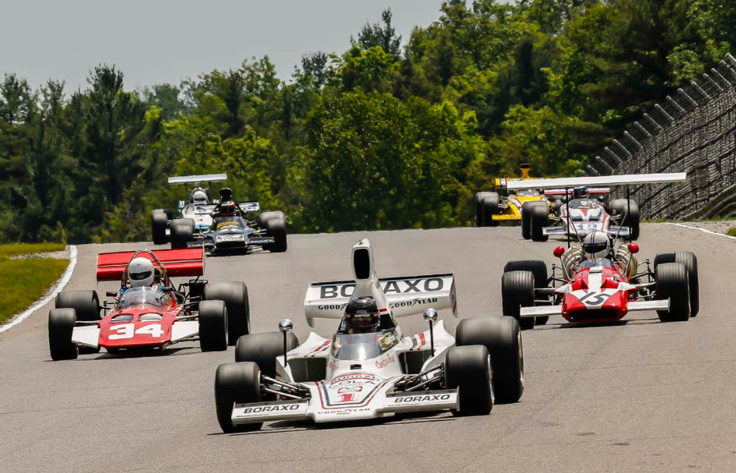 Formula A racing at the VARAC Vintage Grand Prix at Mosport Park