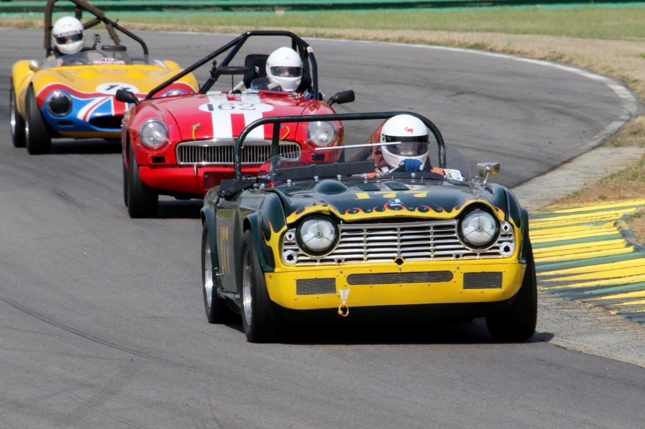 Vintage sportscar racing at the VDCA Wild Hare Run at Virginia International Raceway